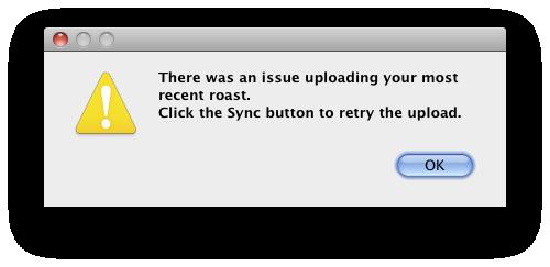 Error uploading dialog